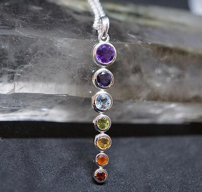 Chakra Pendant in Sterling Silver