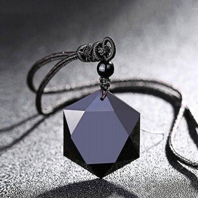 Obsidian Hexagon Pendant