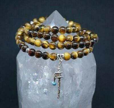 Tiger Eye Tibetan Prayer Wheel Prayer Beads