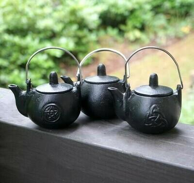 Cast Iron Tea Pot with Triquetra