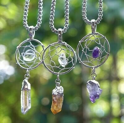 Dream Catchers Crystal Pendants