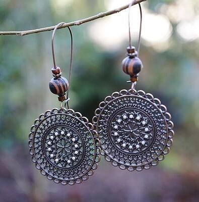 Antique Copper Earrings