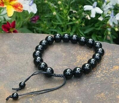 Adjustable Obsidian Bracelet