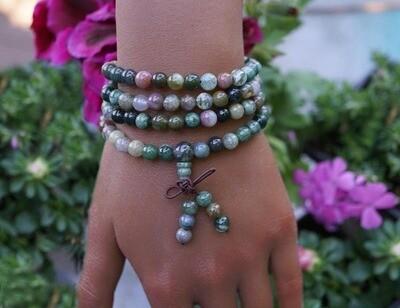 Indian Agate 108 Prayer Beads