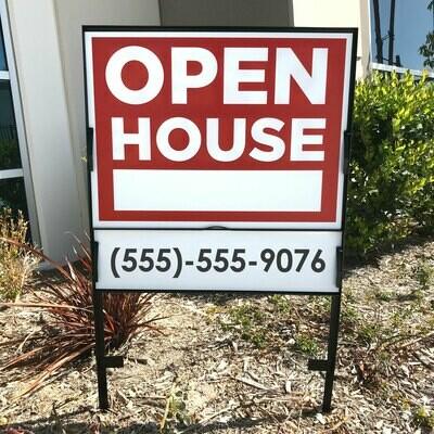 Real Estate Sign & Frame