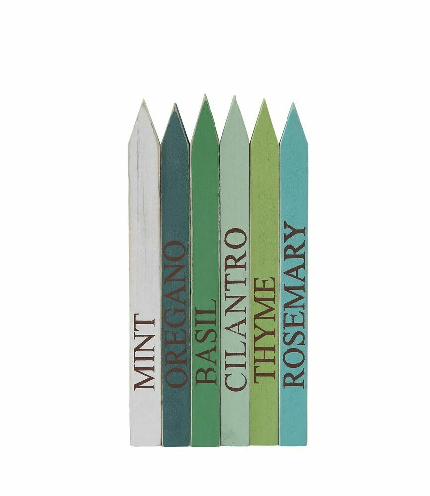 Colorful Wooden Herb Markers