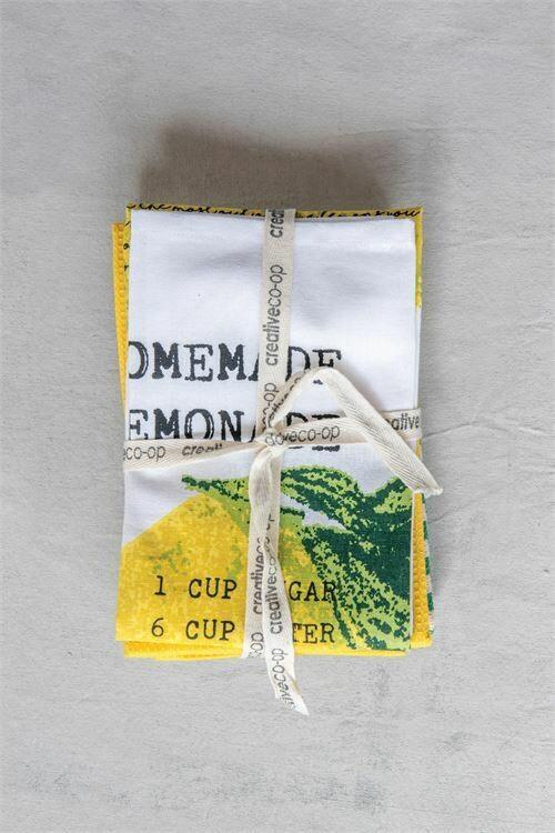 Lemon Theme Set Of 3 Tea Towels