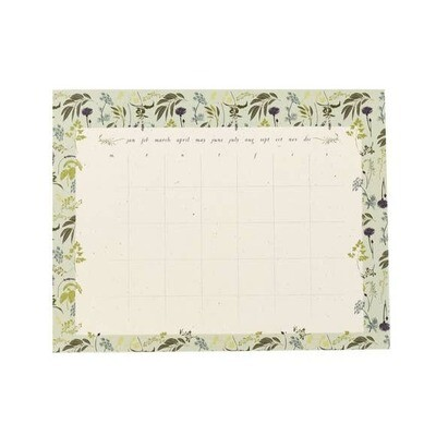 Monthly To Do Calendar- Garden Herb