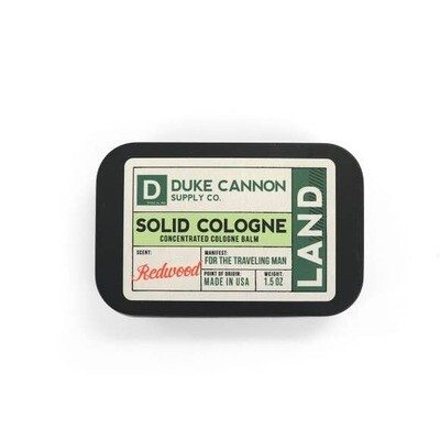 Traveling Man Solid Cologne- Duke Cannon Land