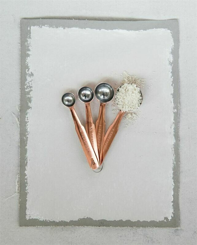 Stainless Steel Measuring Spoons w/ Copper Finish