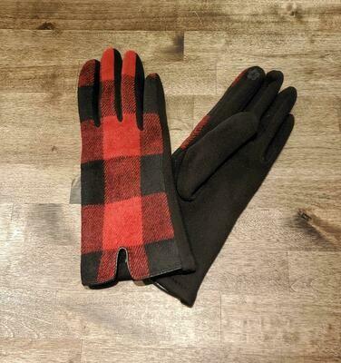 Gloves Red Buffalo Check