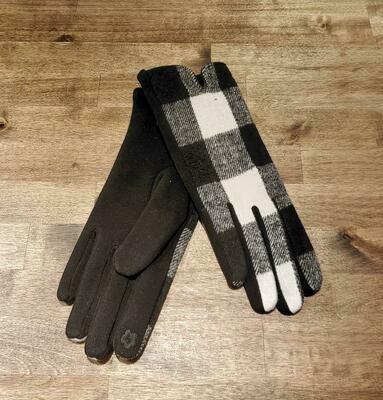 Gloves White Buffalo Check