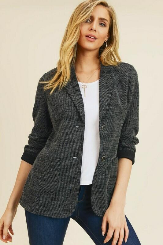 Double Pocket Sweater Jacket