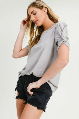 Twisted Sleeve Tee