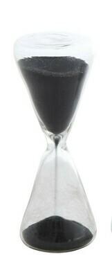 Black Sand Decorative Hourglass