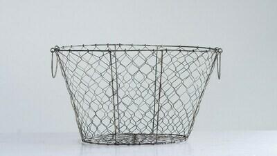 Large Metal Wire Basket w/ Handles- Creative Co-op