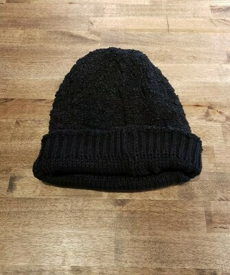 Reversible Popcorn Beanie- Olive & Pique Charcoal
