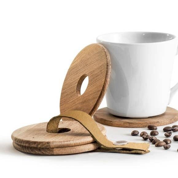 Oak Mug Coasters