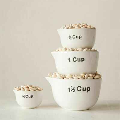 Extra Large Stoneware Measuring Cups