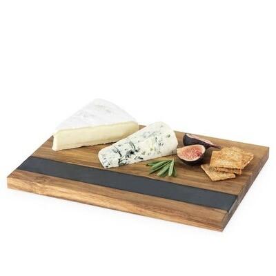 Rustic Farmhouse: Wood & Slate Cheese Board