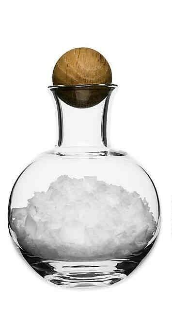Small Glass Bottle w/ Oak Stopper