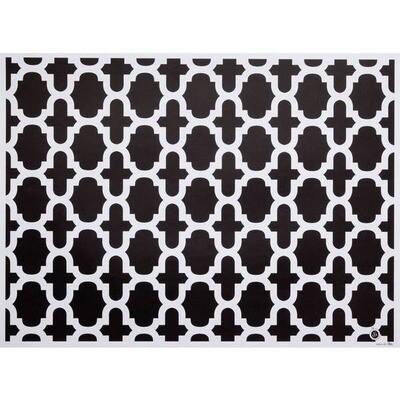 Fret Patterned Paper Placemats