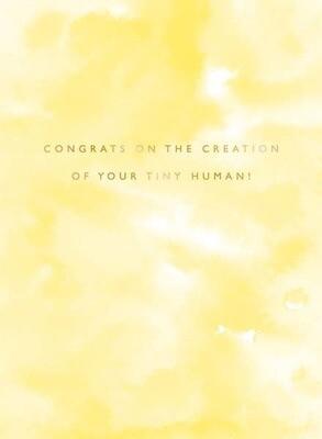 Tiny Human Baby Congrats Card