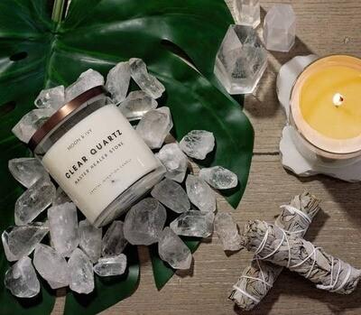 Clear Crystal Quartz Soy Candle
