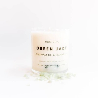 Green Jade Crystal Soy Candle