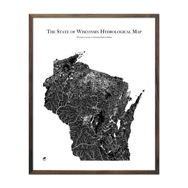 Wisconsin Hydrological Map