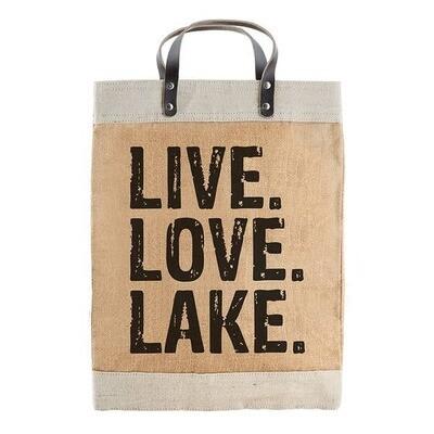 Live. Love. Lake. Market Tote