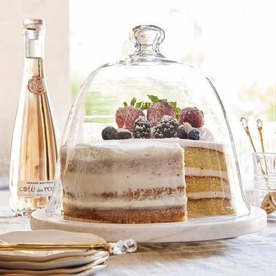 Glass Dome Cake Platter