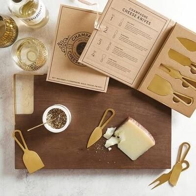 Wood & Brass Serving Board