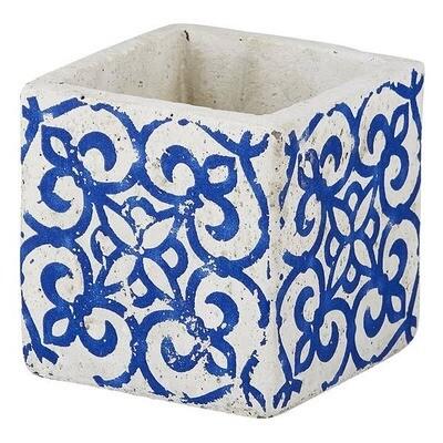 Blue Ornate Pot