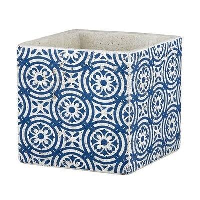 Dark Blue Pattern Pot