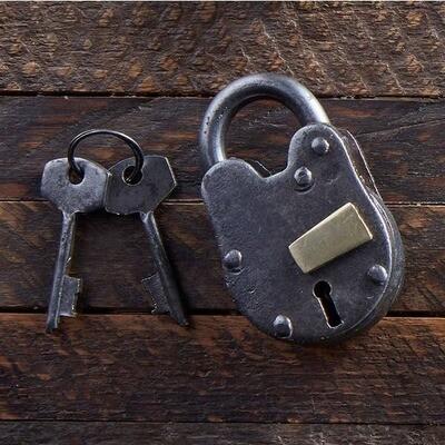 Vintage Lock & Key Set