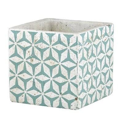 Turquoise Pattern Pot