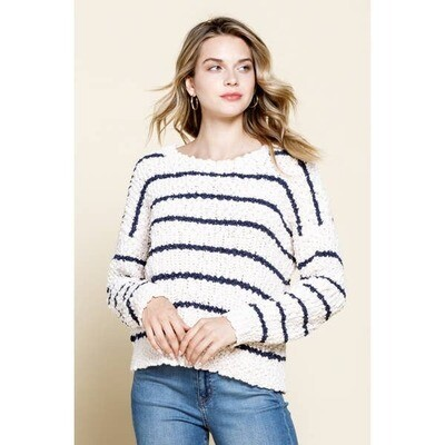 Popcorn Round Neck Sweater