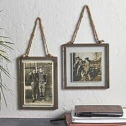 Vintage Style Square Hanging Photo Frame