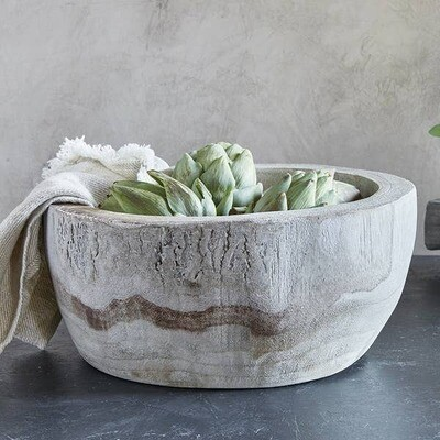 Paulownia Wood Serving Bowl