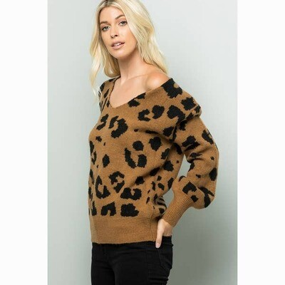 Leopard Print Super Cozy Sweater