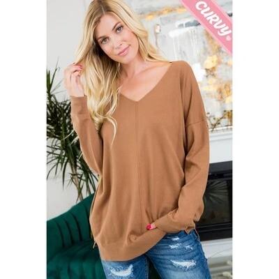 Cozy Knit VNeck Sweater