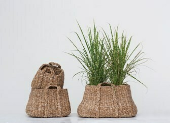 Woven Seagrass Fish Basket