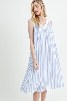 Oversized Stripe Midi Dress
