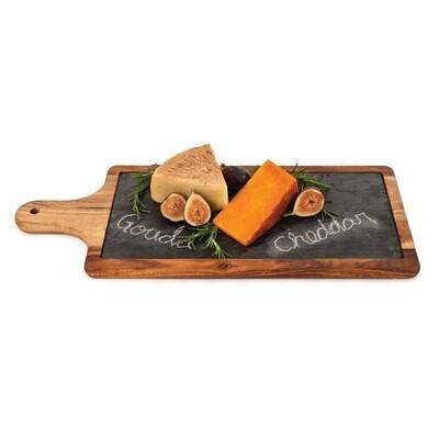 Wood Cheese Board w/ Slate Insert