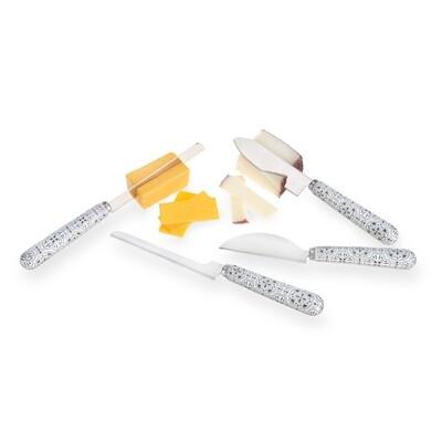 Ceramic Tile Cheese Knife Set