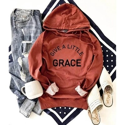 Give A Little Grace Terry Hoodie
