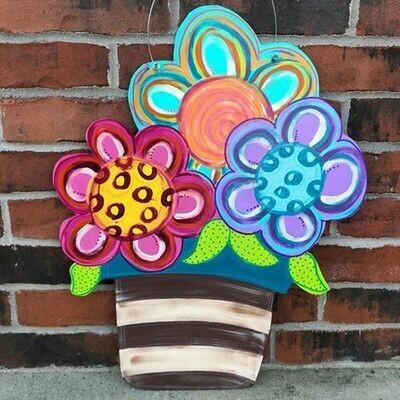 Flower Pot Door Hanger
