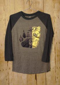 Baseball Shirt Adult with 2 Color Metallic Logo