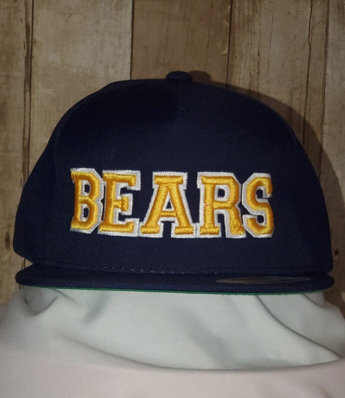 Flat Bill Ball Cap with 3D embroidery